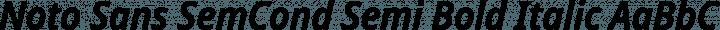 Noto Sans SemCond Semi Bold Italic free font