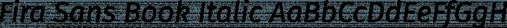 Fira Sans Book Italic free font