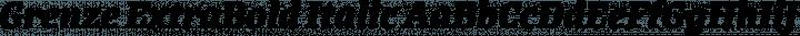 Grenze ExtraBold Italic free font