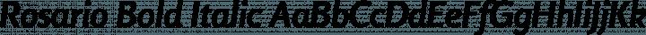 Rosario Bold Italic free font