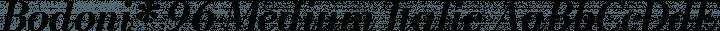 Bodoni* 96 Medium Italic free font