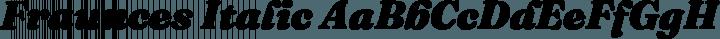 Fraunces Italic free font