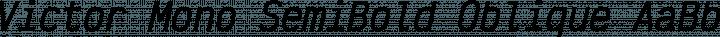 Victor Mono SemiBold Oblique free font