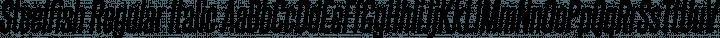 Steelfish Regular Italic free font