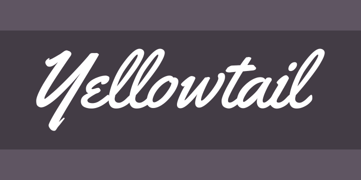 Yellowtail Font Free by Astigmatic » Font Squirrel
