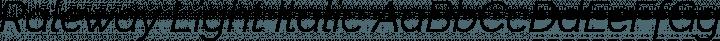 Raleway Light Italic free font