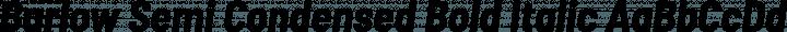 Barlow Semi Condensed Bold Italic free font