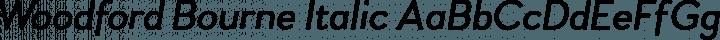 Woodford Bourne Italic free font