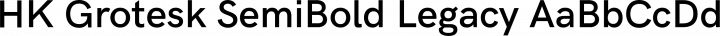 HK Grotesk SemiBold Legacy free font