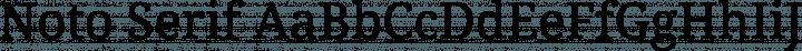 Noto Serif font family by Google
