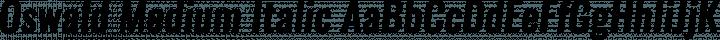 Oswald Medium Italic free font