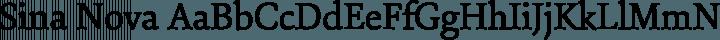 Sina Nova Regular free font