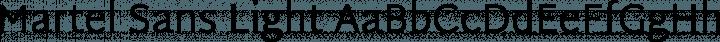 Martel Sans Light free font