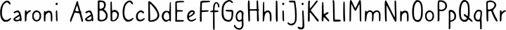 Caroni font family by Franzi Draws