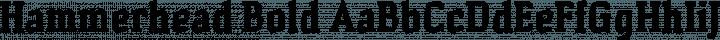 Hammerhead Bold free font