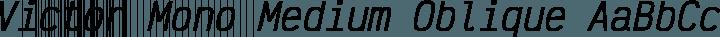 Victor Mono Medium Oblique free font