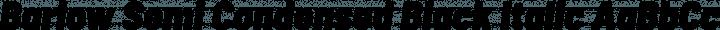 Barlow Semi Condensed Black Italic free font