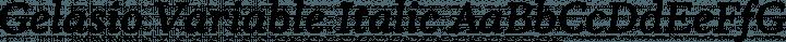 Gelasio Variable Italic free font