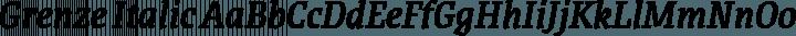Grenze Italic free font