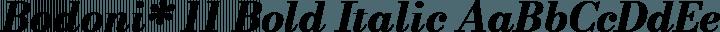 Bodoni* 11 Bold Italic free font