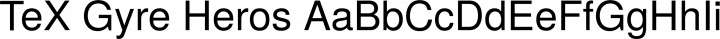 TeX Gyre Heros Regular free font