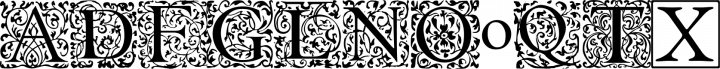 EB Garamond Initials free font