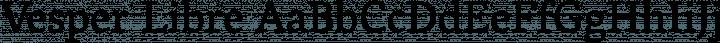 Vesper Libre font family by Mota Italic