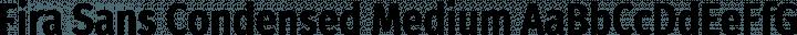 Fira Sans Condensed Medium free font