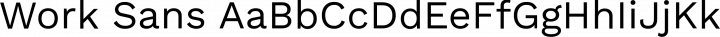 Work Sans Regular free font
