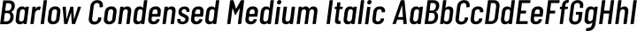 Barlow Condensed Medium Italic free font