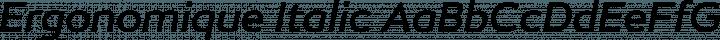 Ergonomique Italic free font