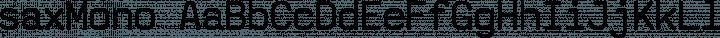 saxMono Regular free font