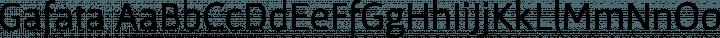 Gafata Regular free font