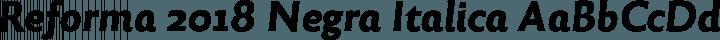 Reforma 2018 Negra Italica free font