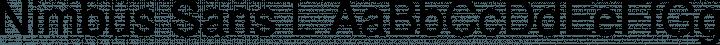 Nimbus Sans L font family by URW++