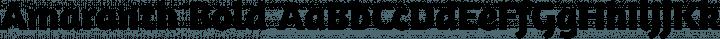Amaranth Bold free font