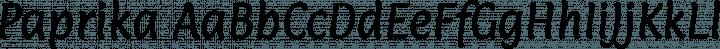 Paprika Regular free font