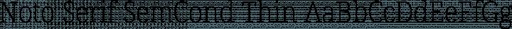 Noto Serif SemCond Thin free font