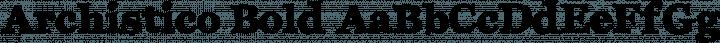 Archistico Bold free font