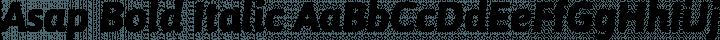 Asap Bold Italic free font