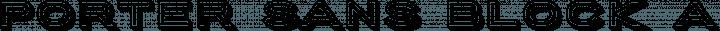 Porter Sans Block free font