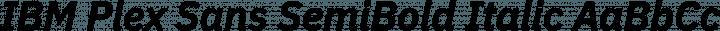 IBM Plex Sans SemiBold Italic free font