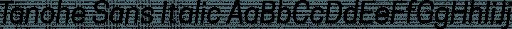 Tanohe Sans Italic free font