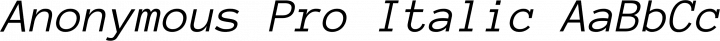 Anonymous Pro Italic free font