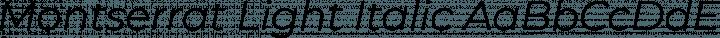 Montserrat Light Italic free font