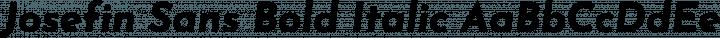 Josefin Sans Bold Italic free font