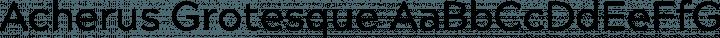 Acherus Grotesque Regular free font