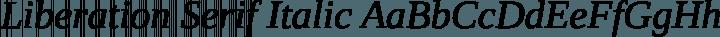 Liberation Serif Italic free font