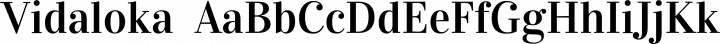 Vidaloka  font family by Cyreal