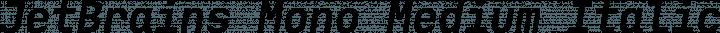 JetBrains Mono Medium Italic free font